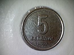 Argentine 5 Centavos 1993 ( Al-Bronze ) - Argentine