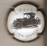 PLACA DE CAVA VIÑA SILVIA DE UN COCHE CHEVROLET 1915 (CAPSULE) V.6615  (MUY RARA) - Mousseux