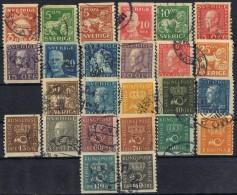 Sellos Serie SUECIA, Sverige 1920, Yvert Num 122-147 º - Schweden