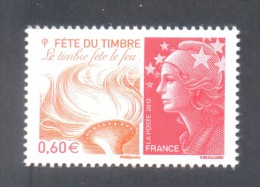 Marianne De Beaujard  -  Adhésif  - V F 0.60 € - Fête Le Feu - 1 Timbre - 2008-13 Marianne De Beaujard