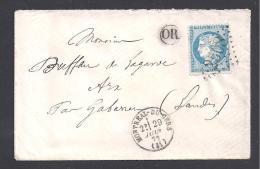 GERS - G.C. 2508  Et Cachet Type 16  MONTREAL DU GERS - Marcophilie (Lettres)