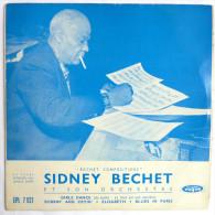 Disque Vinyle  45T SIDNEY BECHET ET SON ORCHESTRE - GIRLS DANCE BLUES IN PARIS -  VOGUE EPL 7021 - 1955 BIEM - Blues