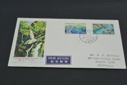 FC536a-  FDC Japan -1972- SC.1133-1134- MT Tsurugi National Park - Adressed - FDC