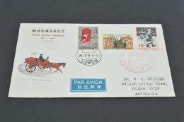 JP37-  FDC  Japan - 1971 -SC.1057-1059 Postal Service Centenary- Adressed - FDC