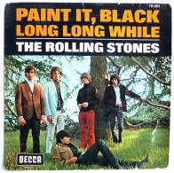 Disque Vinyle 45T THE ROLLING STONES PAINT IT, BLACK LONG LONG WHILE 1967  DECCA - DISQUE BITCH LET IT ROCK 1971 BIEM - Rock