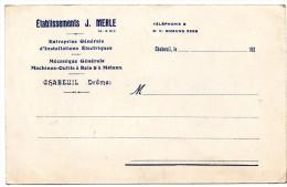 CHABEUIL  -  Etablissements MERLE  - Imprime - France
