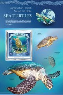 MALDIVES 2015 - Sea Turtle S/S Official Issue - Schildpadden