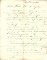 1823 - Paris - Lettre Sur Le Cheminement D'une Ordonnance Du Roi - Les Mines De St Georges Etc. - Documents Historiques