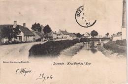 Editeur VAN CUYCK Dixmude Haut Pont De L'Yser Gelopen Zegel Af 1904 - Diksmuide