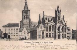 Editeur VAN CUYCK Dixmude Panorama Gelopen Met Zegel 1904 - Diksmuide