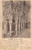 Editeur VAN CUYCK Dixmude Le Jube' De L'Eglise Gelopen Internationaal Met Zegel 1902 Linker Boven Hoek Af. - Diksmuide