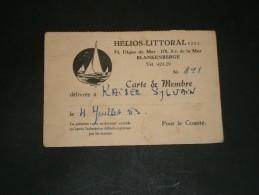BLANKENBERGE - ASBL HELIOS LITTORAL  Dél. à KAISER SYLVAIN  Le 4/7/53 - Vieux Papiers