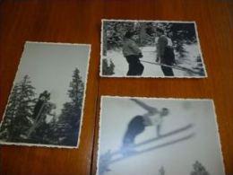 BP1-2-0-3 Rare Compétition Saut à Ski SPort D'hiver Lot De 3 Petites Photos - Années 30 - Sports D'hiver