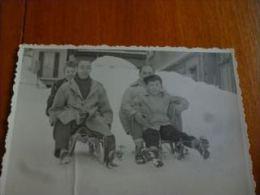 BP1-2-0-3  SPort D'hiver  Traineau Luge Petite Photo - Années 30 - Sports D'hiver