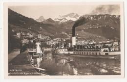 Suisse - Vaud - Montreux Rochers De Naye Vus Du Lac Bateau Vapeur - VD Vaud