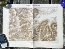 GUERRE 1870-71 BATAILLE DE NOUART FOSSE TAILLY BARRICOURT BELVAL BEAUCLAIR BEAUFORT HALLES CARTE MILITAIRE COMBAT R524 - Documenti
