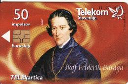 Slowenien, Bischof-Bishop - škof, Chip,catalogue Nr.262,tirage 997, Plus Slovenia Phonecards Catalogue - Slovénie