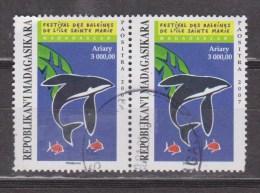 2007. R. MADAGASKIRA - MADAGASCAR. DELFINES. PAREJA DE SELLOS USADOS - USED. - Madagascar (1960-...)