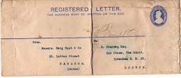 Lettre Timbrée - INDIA REGISTRATION TWO ANNAS POSTAGE HALFANNA - Ohne Zuordnung