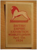 GB UK Wembley London 1924 British Empire Exhibition Lion Lions Leon Poster Stamp Label Vignette Viñeta - Autres