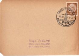 Lettre Timbrée -  Allemagne - Hugo VOELCKER - 1939 - Germany