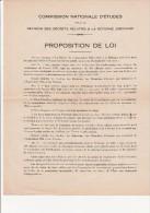 PROPOSITION DE LOI COMMISSION D'ETUDES POUR LA REVISION DES DECRETS RELATIFS A LA REFORME JUDICIAIRE -1928 - Decrees & Laws