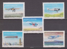 "ARGENTINA 1985 International Stamp Exhibition ""Argentina '85"", Buenos Aires, First Airmail Flights. NUEVO - MNH ** - Airplanes"