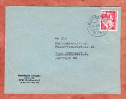 Brief, Roentgengeraet, Grossbardorf Nach Stuttgart 1980 (79486) - [7] Repubblica Federale