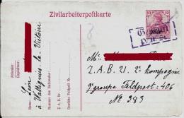 59 NORD WATTIGNIES LA VICTOIRE 1918 ZIVILARBEITERPOSTKARTE CAMP PRISONNIER CIVIL ZAB 21 WW1 AVESNES FOURMIES FELDPOST - Ohne Zuordnung