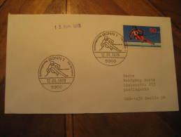 Bonn 1978 Ski Skiing Fdc Cancel Cover Germany - Ski