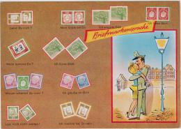 AK - Briefmarkensprache - Briefmarken (Abbildungen)