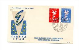 MK327 - BELGIO , FDC  DEL 1958. Europa Cept - FDC