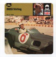 Sept15  64237    Moss Stirling       FICHE AUTO - Automobile - F1