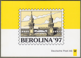 "Bund + Berlin: Minister Card - Ministerkarte Mit Mi-Nr.1877 SST: ""Briefmarkenausstellung BEROLINA ´97"" !         X - Covers & Documents"