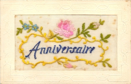 CARTE BRODEE ANNIVERSAIRE - Embroidered