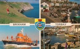 Postcard - Brixham (Lifeboat/Harbour/Berry Head), Devon. A