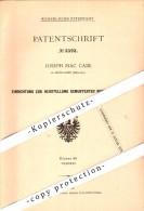 Original Patent - Oseph Mc Cabe In Droylsden , England , 1877 , Producing Patterned Fabrics , Weaving , Tameside !!! - Inghilterra
