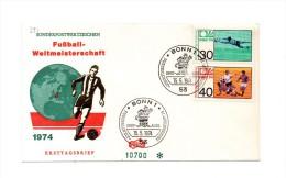 MK391 - GERMANIA , FDC 15/5/1974  Calcio - 1974 – Germania Ovest