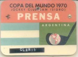 CARNET DE PRENSA ORIGINAL DE UN PERIODISTA DEL GRUPO CLARIN DE LA COPIA MUNDIAL DE GOLF CELEBRADA EN EL JOCKEY CLUB DE S - Golf