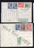 LUXEMBOURG AIR MAIL 1966 TWO POSTCARDS TO URUGUAY RARE DESTINY - Stamps