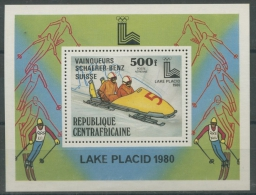 Zentralafrikanische Republik 1980 Olympiade Block 80 A Postfrisch (R20040) - Centrafricaine (République)