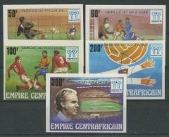 Zentralafrikanische Republik 1978 Fußball-WM 600/04 B Geschnitten Postfrisch - Central African Republic