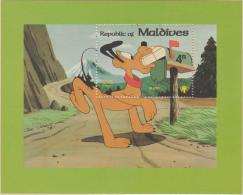 MALDIVES - 1979 Walt Disney Pluto Souvenir Sheet. Scott 835. MNH ** - Malediven (1965-...)