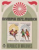 MALDIVES - 1972 Olympic Games Souvenir Sheet. Scott 411. MNH ** - Malediven (1965-...)
