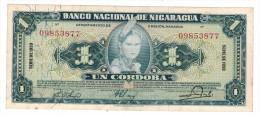 Nicaragua 1 Cordoba 1959 AUNC - Nicaragua