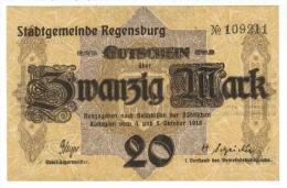 Allemagne // Deutschland //  Regensburg  Gutschein 20 Mark - [11] Emissions Locales