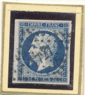 N°14 NUANCE OBLITERATION BELLE FRAPPE. - 1853-1860 Napoléon III
