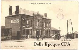 80 - Rosières / ROSIÈRE - Hôtel De La Gare ++++ Coll. Octave, Hôtel De La Gare +++ 1916 +++++ RARE - Rosieres En Santerre