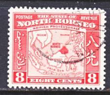 North Borneo  198   (o)  ISLAND  MAP - North Borneo (...-1963)