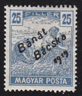 "HUNGARY Banat Bacska - Scott #10N24 Harvesting ""Overprinted"" / Mint H Stamp - Banat-Bacska"